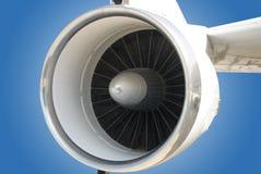 Jet Engine. Close-up view of a aircraft jet turbine engine Stock Image