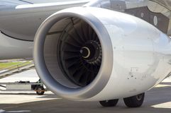 Jet Engine. Of a Plane Royalty Free Stock Photos