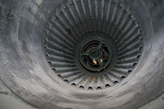 Jet engine air inlet Stock Photography