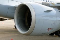 Jet Engine. Of an A319-100 Airbus Royalty Free Stock Photos