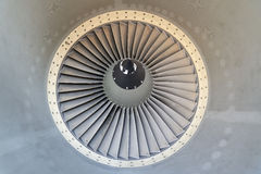 Jet engine of airplane Stock Images