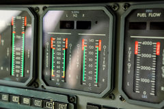 Jet engine analog  gauges Stock Images
