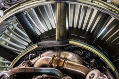 Jet Engine. Back side of a 737 turbine engine Royalty Free Stock Photo