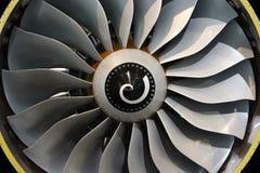 Jet engine blades. Close-up of jet engine turbine blades stock photography