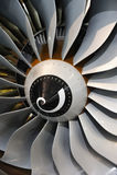 Jet engine blades. Close-up of jet engine turbine blades royalty free stock images