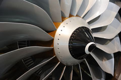 Jet engine blades Royalty Free Stock Image