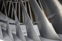 Jet engine blades Royalty Free Stock Photos