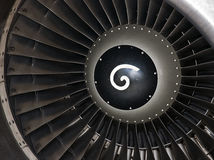 Turbine of jet plane Stock Image
