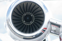 Jet engine of business jet airplane Royalty Free Stock Images