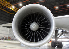 Jet engine close Royalty Free Stock Photo