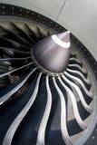 Jet Engine Close su Fotografie Stock Libere da Diritti