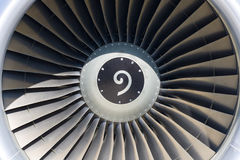 Jet engine close up Royalty Free Stock Images