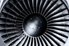 Jet engine close up. Black andwhite. Toning Royalty Free Stock Photos