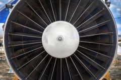 Jet engine close up photo Royalty Free Stock Photo