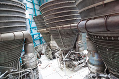 Jet engine components. The Jet engines used to launch rockets to the moon, very large industrial jet engine exterior Stock Image