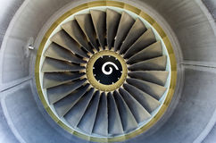 Jet engine detail. Royalty Free Stock Images