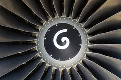 Jet engine detail. Royalty Free Stock Photos