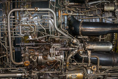 Jet engine detail stock images