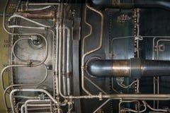 Jet engine detail. Detail of Pratt and Whitney J58 Jet Engine which powered the Lockheed SR71 Blackbird Royalty Free Stock Photos