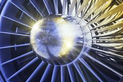 The jet engine Stock Photography