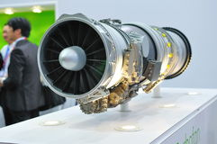 Jet engine on display at Singapore Airshow Stock Photography