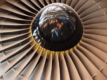 Jet engine fan blades close-up Royalty Free Stock Images