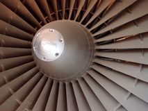 Jet engine fan Royalty Free Stock Photo