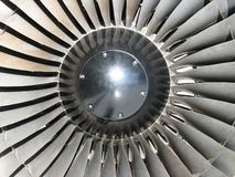 Jet engine front Stock Photos
