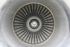 Jet engine front Royalty Free Stock Photos