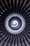 Jet engine front Stock Images