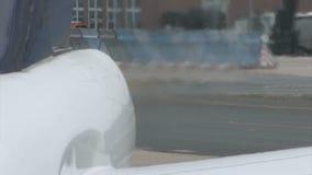 Jet engine heat haze stock video