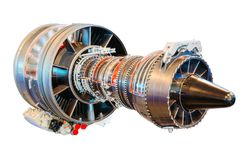 Jet engine helicopter, turbine isolated white background. Stock Photography