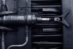 Jet engine inside Royalty Free Stock Photo