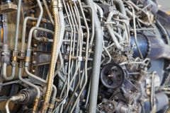 Jet engine internal stock photos