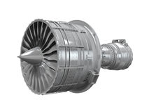 Jet Engine Isolated Royalty Free Stock Image