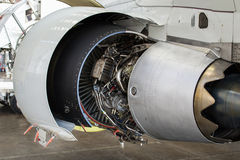 Jet Engine Maintenance Royalty Free Stock Photos