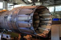 Jet engine nozzle Stock Photo