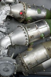 Jet engine parts Stock Images
