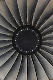 Jet engine passenger plane Stock Photography