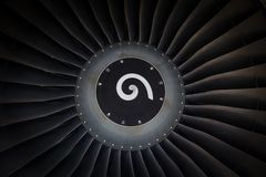 Jet engine passenger plane Stock Photo