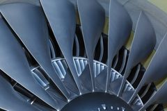 Jet engine passenger plane Royalty Free Stock Images