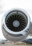 Jet engine passenger plane Stock Photography