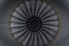 Jet engine passenger plane Stock Image