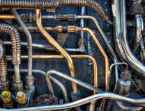 Jet Engine Plumbing Stock Photo