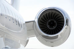 Jet Engine on a private aircraft - Bombardier Royalty Free Stock Photography