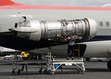 Jet engine repair Stock Image