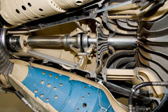 Jet engine section Royalty Free Stock Image