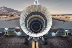 Jet Engine In the starting line Stock Photo