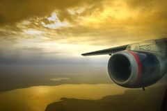 Jet Engine Sunset Royalty Free Stock Photo