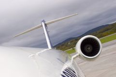 Jet Engine and Tail Royalty Free Stock Photography